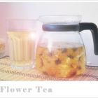 A pot of flower tea