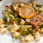 Pretty Fit: Lachs mit Apfel-Lauch-Butter
