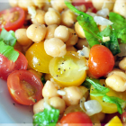 Easy Chickpea Tomato Salad