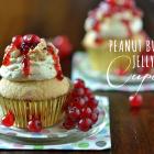 Dreifache Erdnussbutter-Liebe : Peanutbutter Jelly Cupcakes
