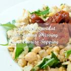 Kichererbsensalat mit Tahina-Dressing & Chorizo-Topping