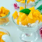 Kokosmilchreis mit Mangopüree