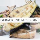 Gebackene Aubergine mit gebratenen Pilzen [Lowcarb &Vegan]