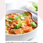 Schnelles Curry mit Schweinefilet und Süßkartoffeln