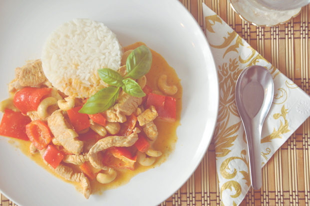 Rotes Puten-Curry