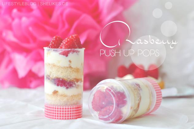 Rasberry Push Up Pops