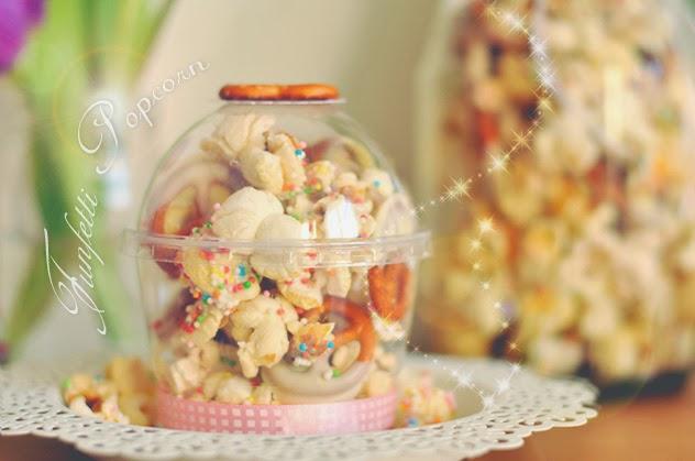 Funfetti Popcorn für eure Valentines