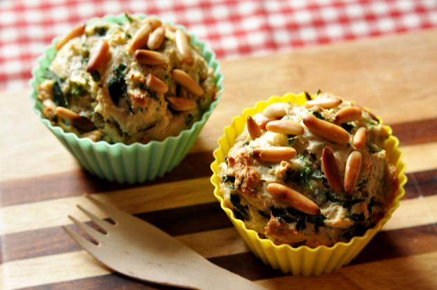 [Let's cook together] Spinat Ricotta Muffins