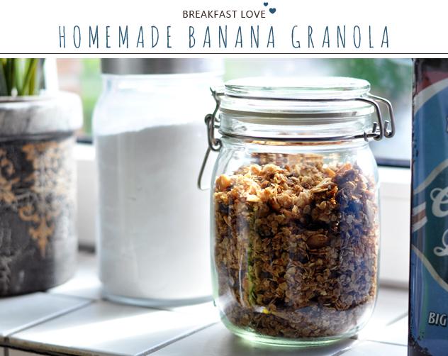 [Homemade] Bananen-Knuspermüsli