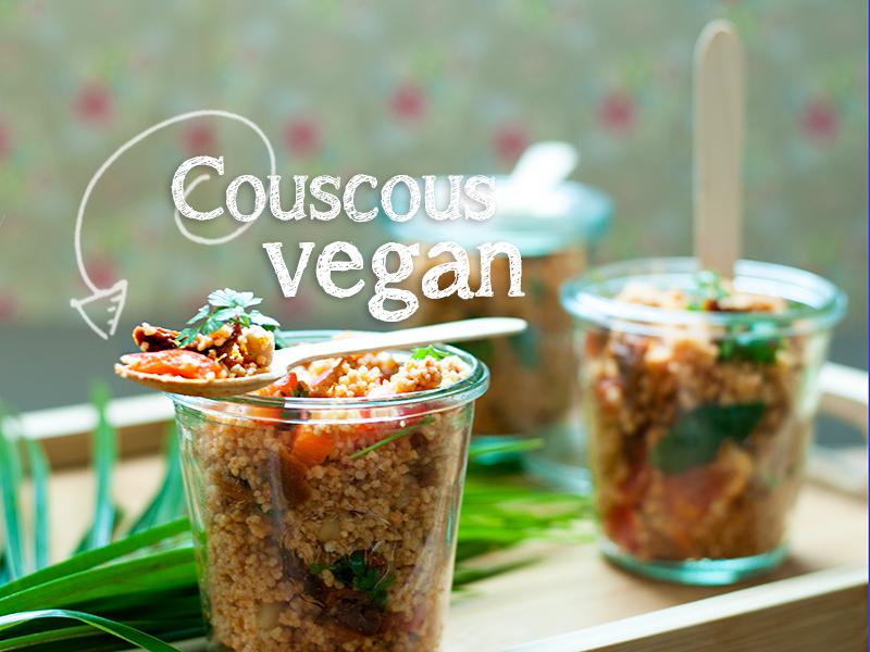 Würziger roter Couscous Salat [vegan]