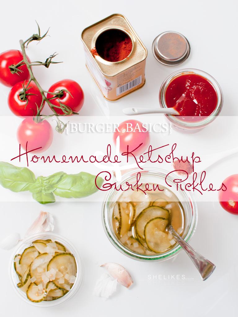 [BurgerBasics] Selbstgemachter (lowcarb) Ketschup & Gurken Pickles