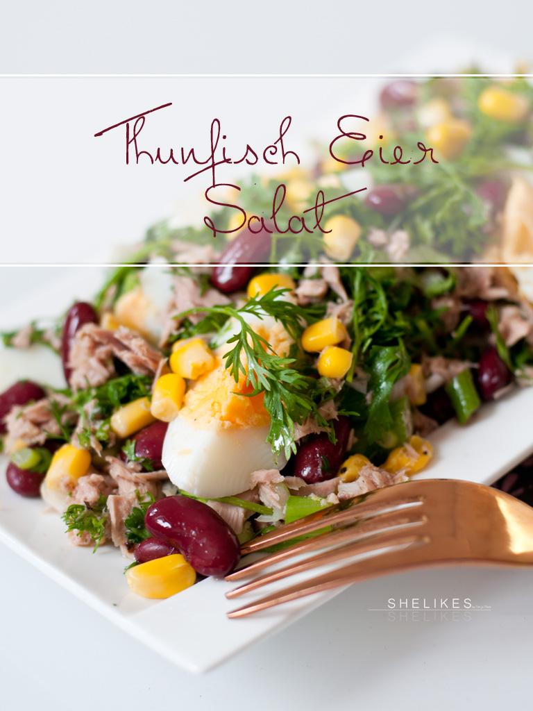 Asiatisch angehauchter Thunfisch-Eier-Salat