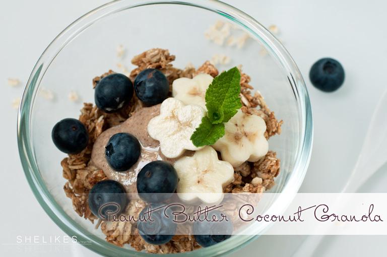 Erdnussbutter-Kokos Granola & Maca Powerballs