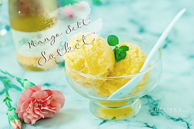 [Hello Summer] Mango Prosecco Sorbet