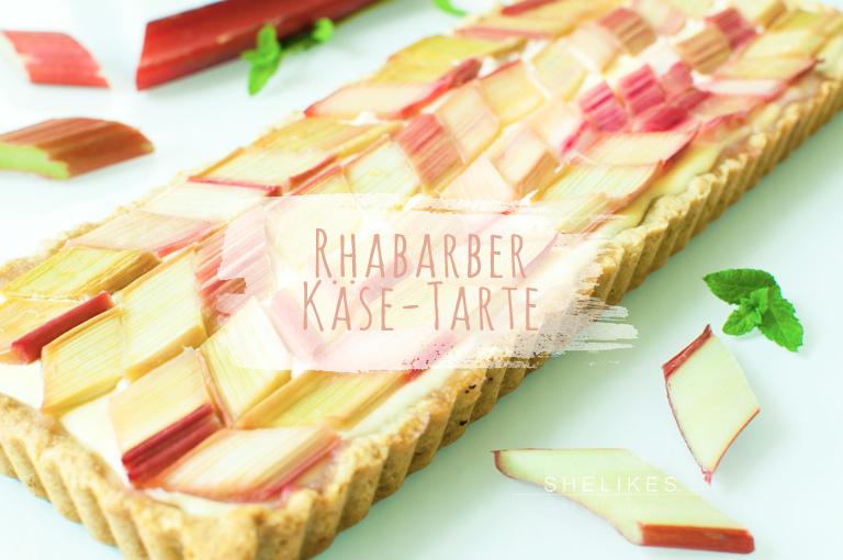 Käsekuchen♥Liebe mit Rhabarber-Rauten