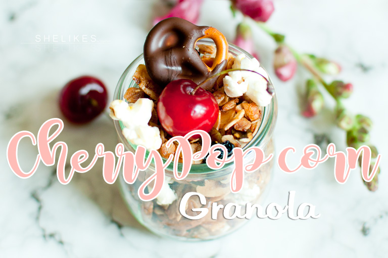 Cherry Popcorn Granola – Knuspermüsli mit Kirschen und Popcorn
