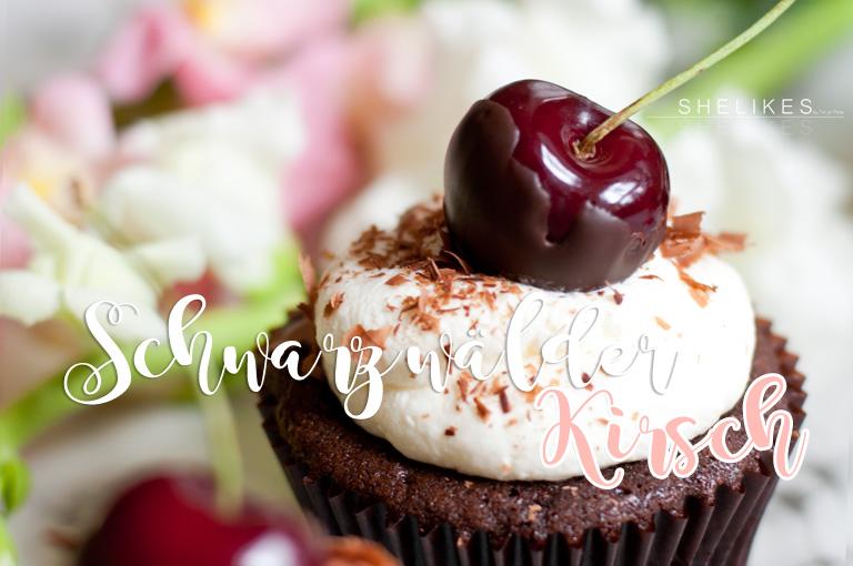 Schwarzwälder Kirsch Cupcakes | Black Forest Cupcakes
