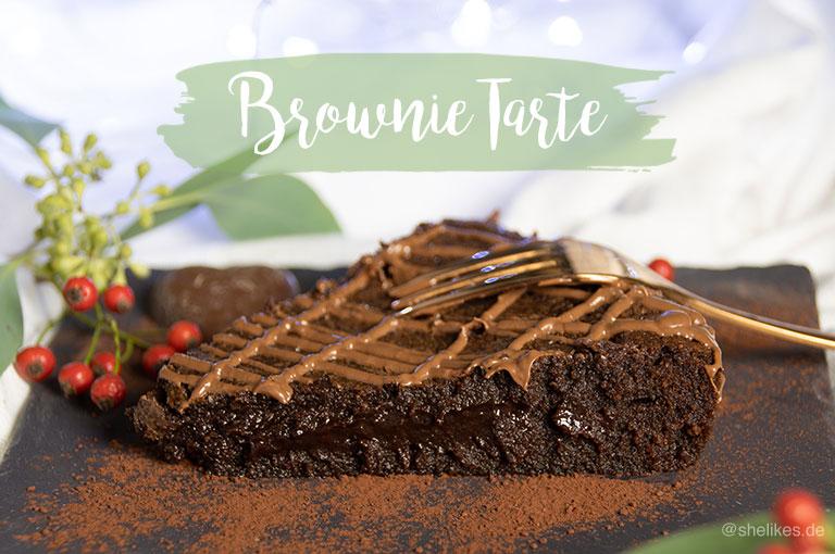 Brownie Tarte aus nur fünf Zutaten