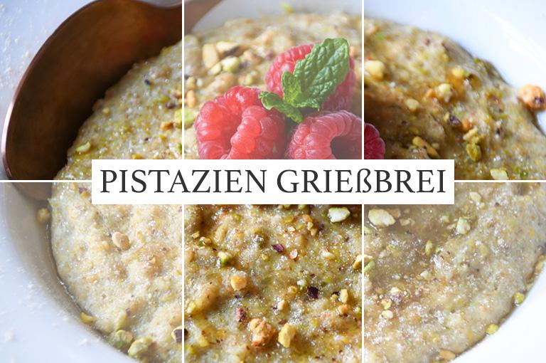 [Vegan]Pistazien Grießbrei mit Dinkel