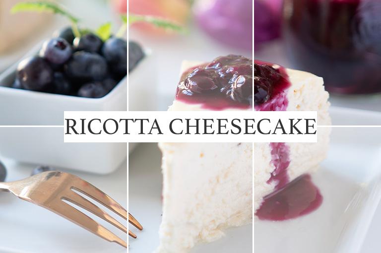 Ricotta Cheesecake mit Blaubeersoße