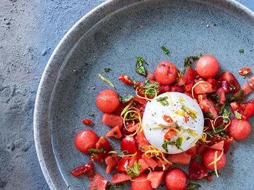 [Sommerküche] Burrata mit Wassermelone – erfrischend lecker!