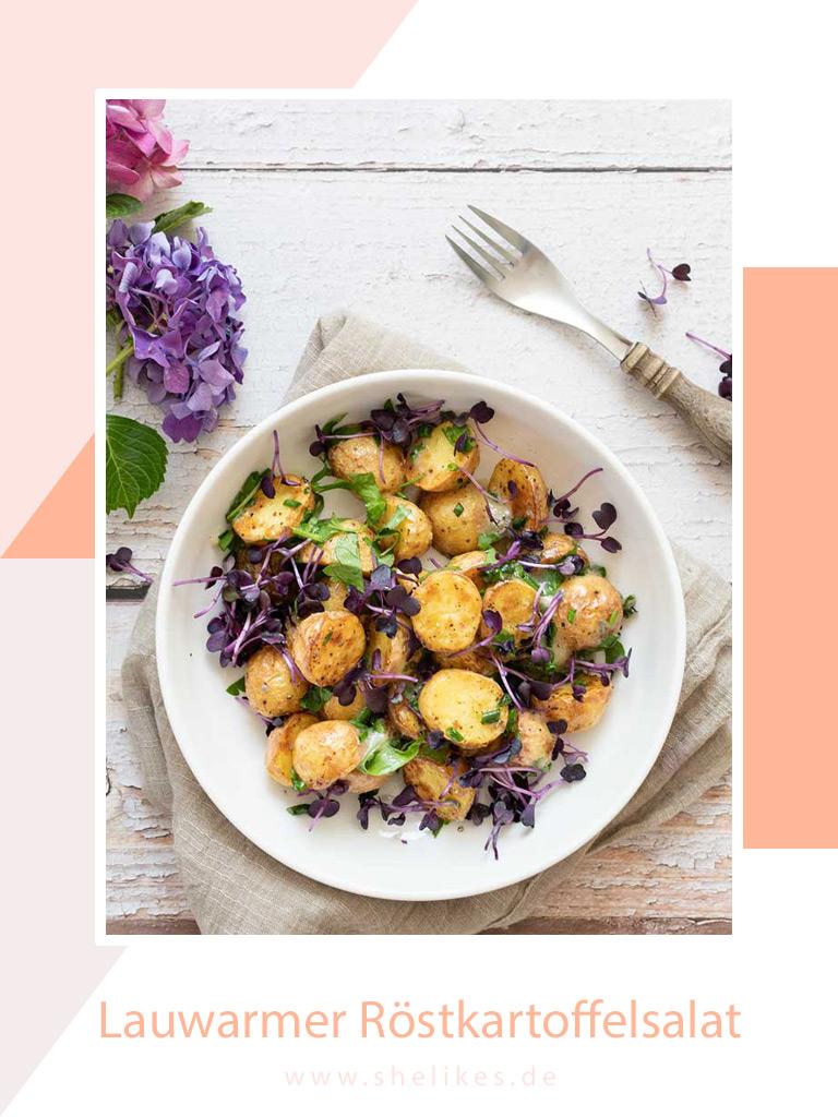 Lauwarmer Röstkartoffelsalat mit Gorgonzola aus der Heißluftfritteuse